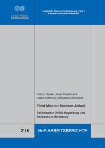 Third Mission Sachsen‐Anhalt. Fallbeispiele OVGU Magdeburg und Hochschule Merseburg