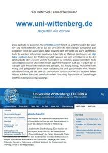 www.uni-wittenberg.de. Begleitheft zur Website
