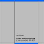 25 Jahre Wissenschaftspolitik in Sachsen-Anhalt: 1990–2015