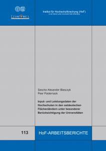 Input‐ und Leistungsdaten der Hochschulen in den ostdeutschen Flächenländern unter besonderer Berücksichtigung der Universitäten