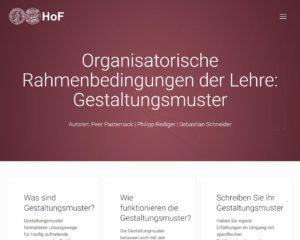Organisatorische Rahmenbedingungen der Lehre: Gestaltungsmuster