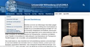 Nach 204 Jahren endlich online: www.uni-wittenberg.de